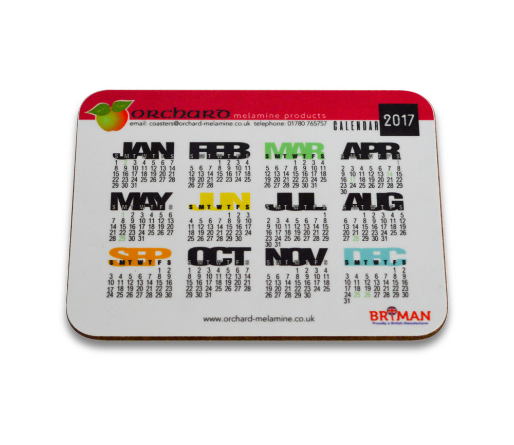 Image of Calendar Coaster - 115x90mm